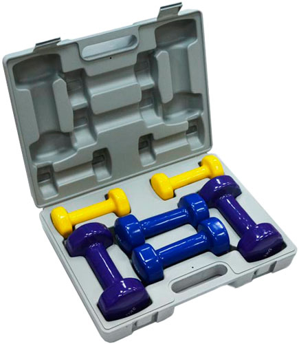 FitLogic Home Vinyl Dumbbell Set Box (BDB-01B)